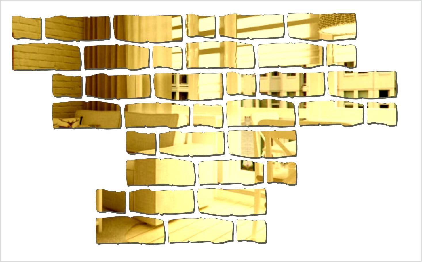 Dekoracyjne lustro akrylowe Cegła