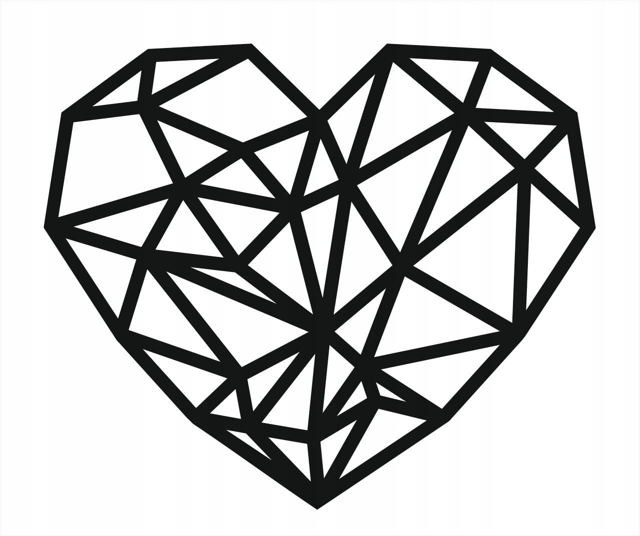 """Grafika ozdobna na ścianę """"Serce"""""""